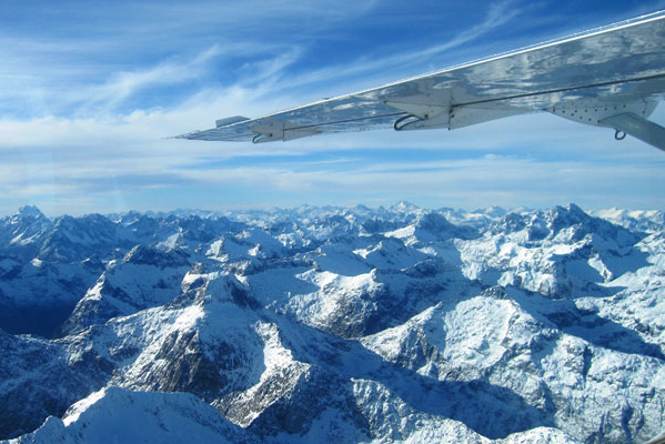 Experience Milford Sound and the 'Big Five' Glacier Scenic Flight with Air Milford.